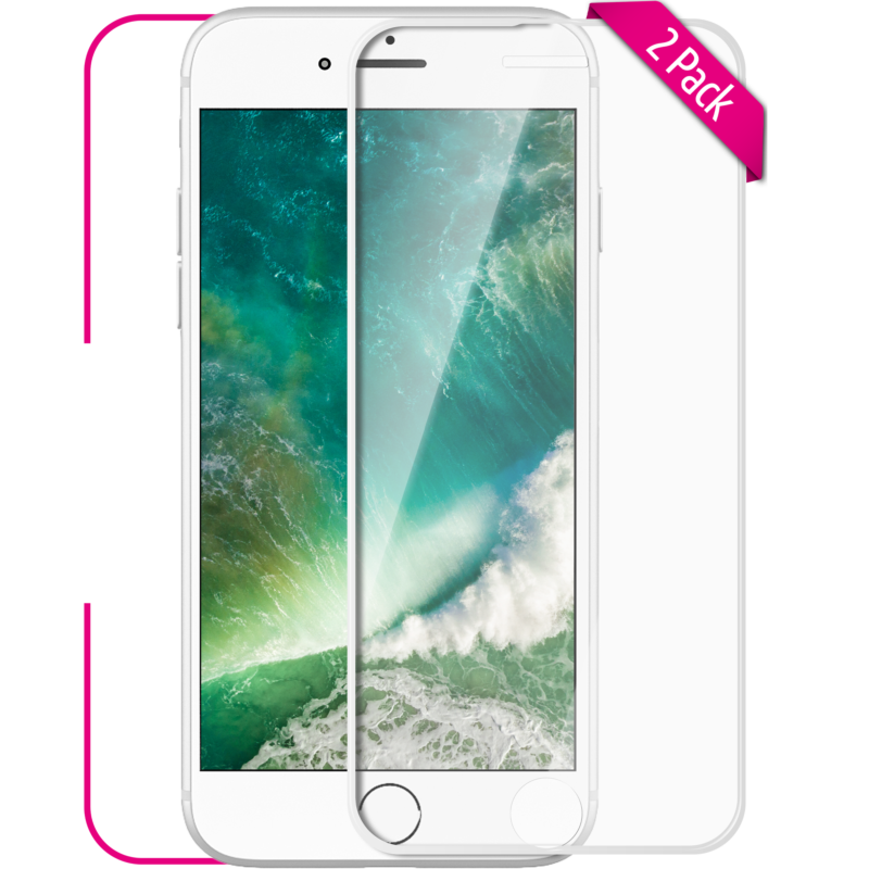 Apple iPhone 6 6S Panzerglas Front weiss
