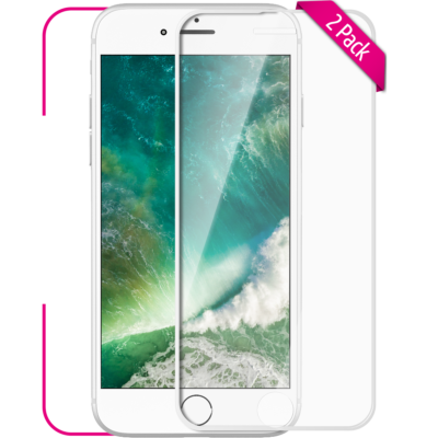 Apple iPhone 6 Plus 6S Plus Panzerglas Front weiss