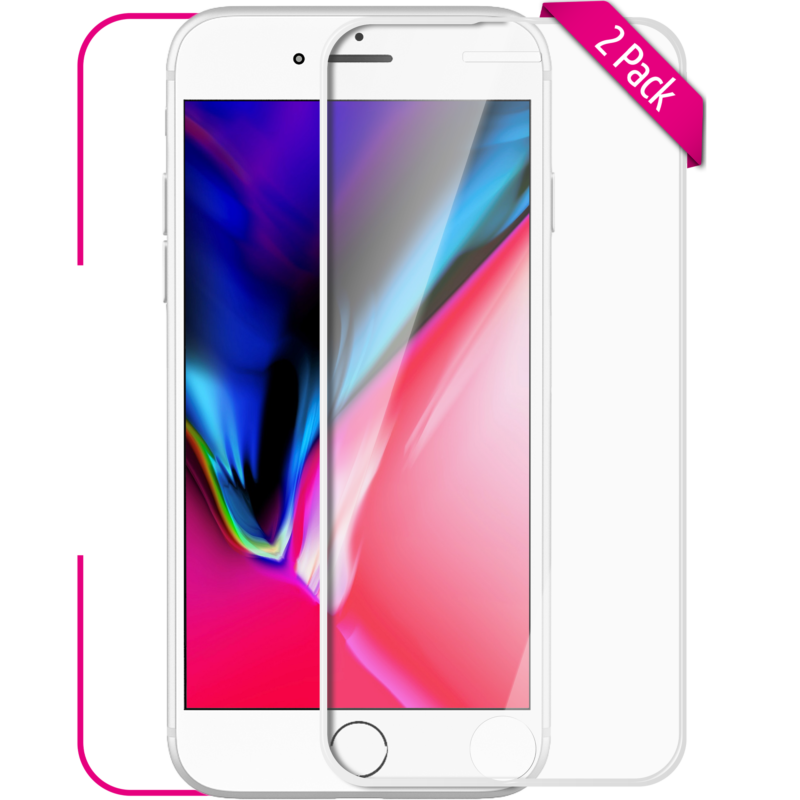 Apple iPhone 7-8 Plus 3D Panzerglas weiß Front
