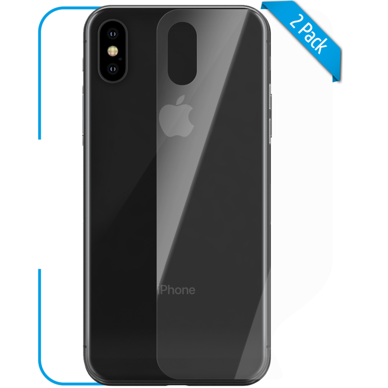 Apple iPhone X XS Schutzfolie back klar Hero 1