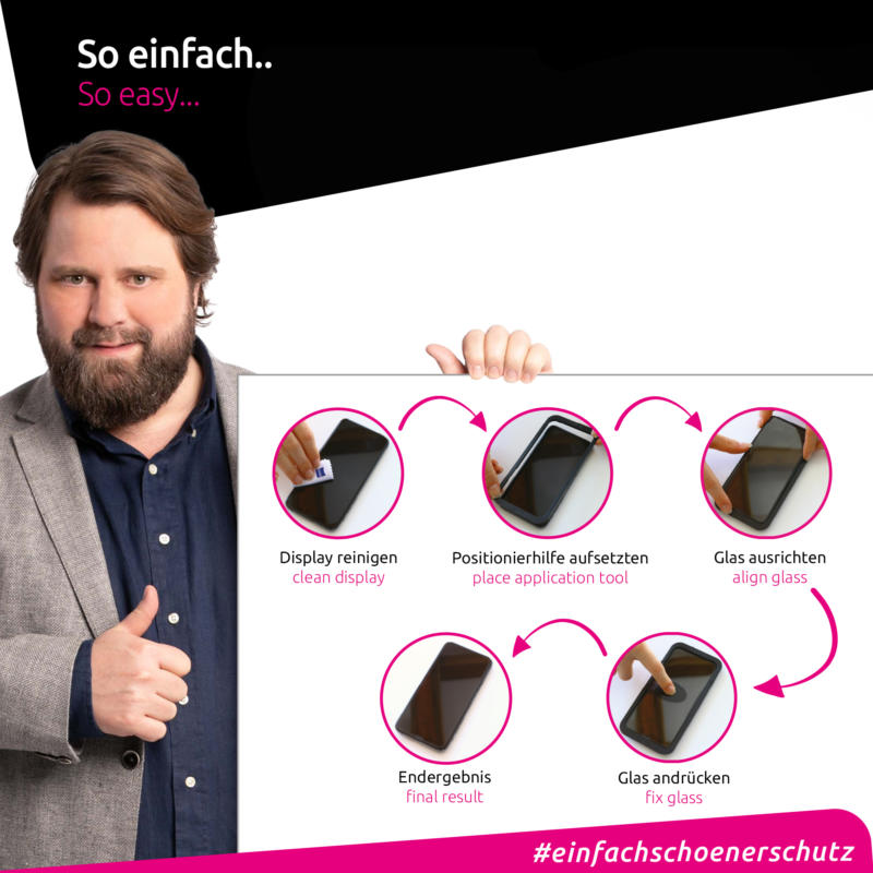 Apple iPhone XS Max Panzerglas Anbringung