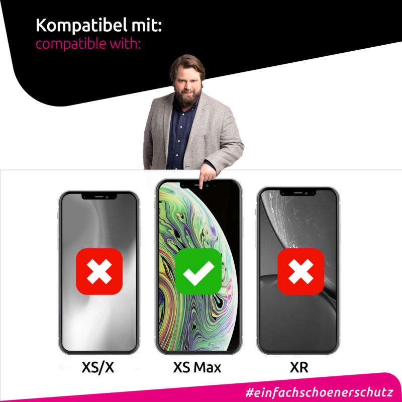Apple iPhone XS Max Panzerglas kompatibel