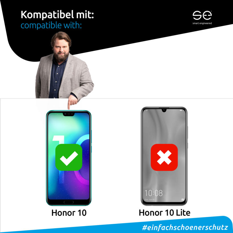 Honor 10 Front Displayschutzfolie matt kompatibel