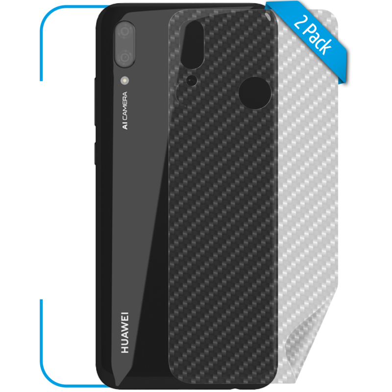 Huawei P Smart 2019 Schutzfolie Back Carbon