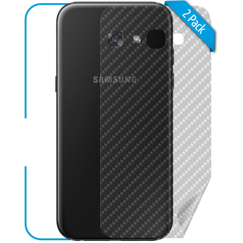 Samsung Galaxy A3 Schutzfolie Rückseite Carbon