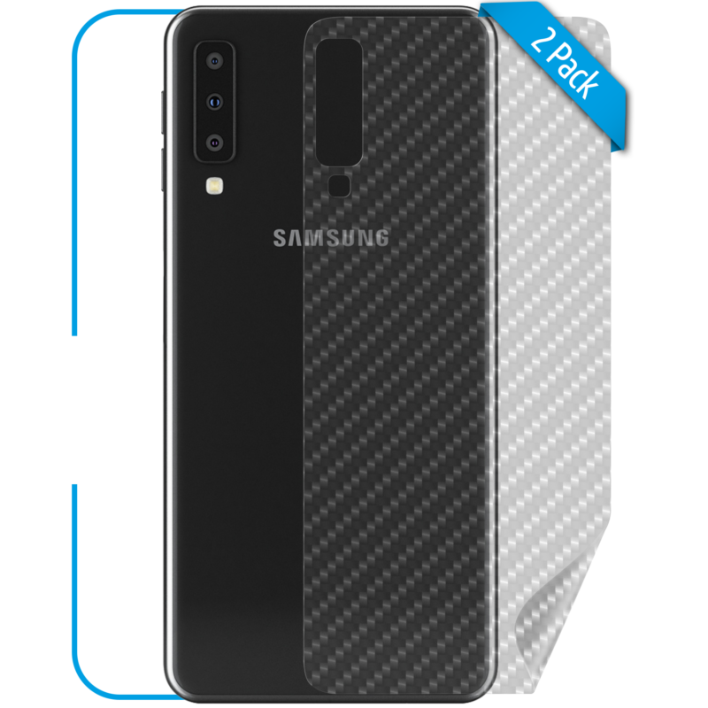 Samsung Galaxy A7 Schutzfolie Rückseite Carbon