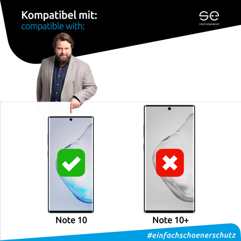 Samsung Galaxy Note 10 Schutzhülle transparent kompatibel
