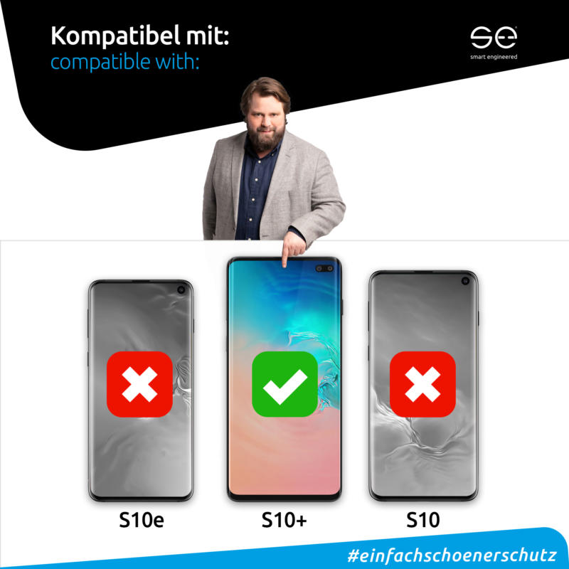 Samsung Galaxy S10 Plus Front Displayschutzfolie matt Kompatibel