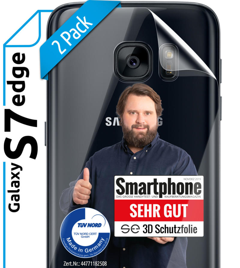 Samsung Galaxy S7 Edge Schutzfolie back klar Hero 2