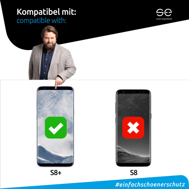 Samsung Galaxy S8 Plus Displayschutzfolie Front matt kompatibel